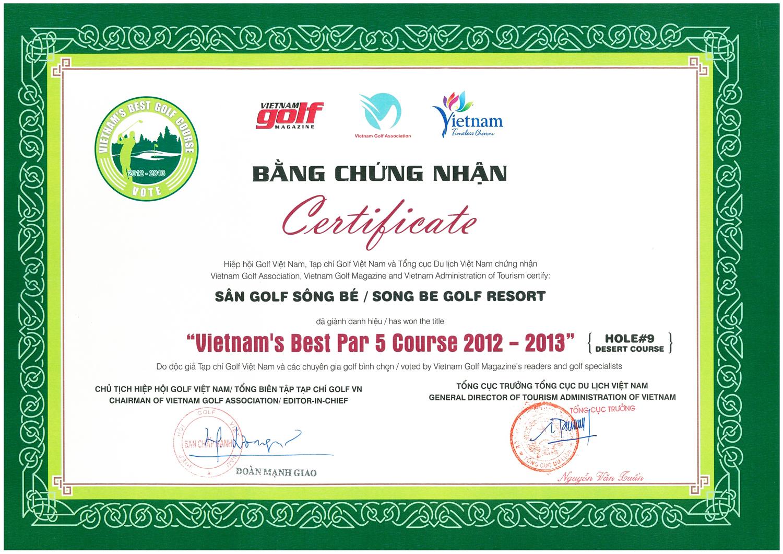Song Be Golf Resort Awards